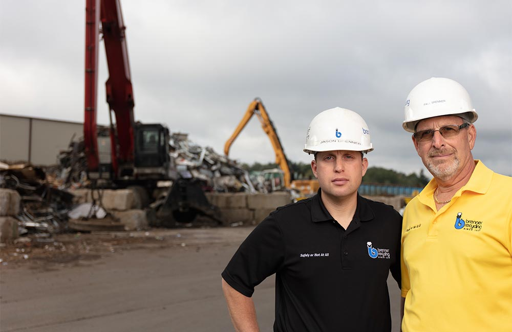 Jason and Paul Brenner at their Hazleton, PA, scrapyard in Northeast Pennsylvania.